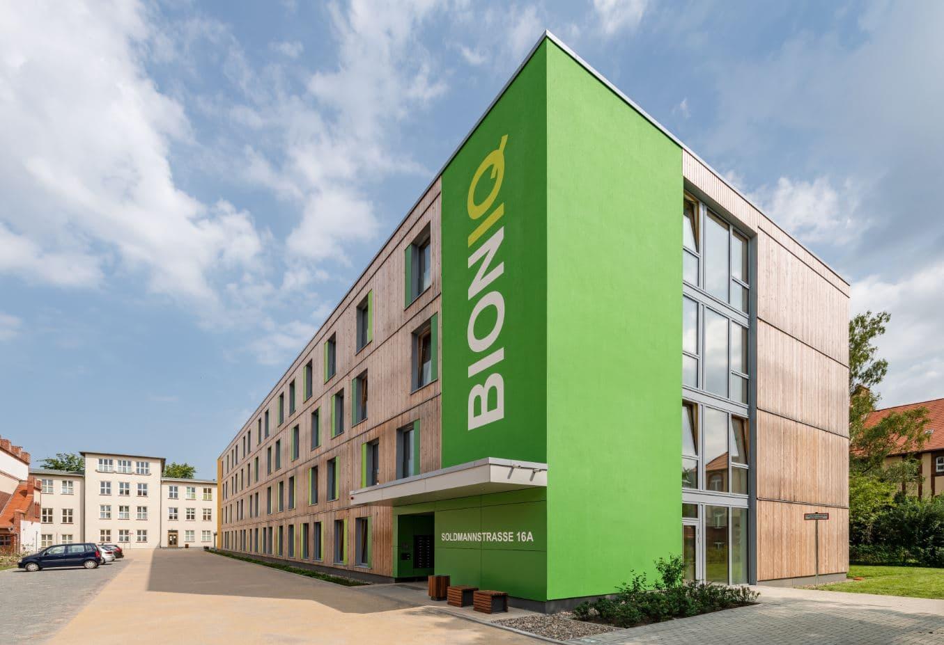 Außenansicht Studentenapartments in Greifswald als nachhaltige Kapitalanlage